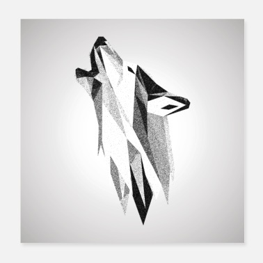 Origami Origami Wolf - Poster