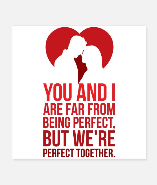 Pop Posters - Sweet saying for couples! Valentine's Day gift - Posters white