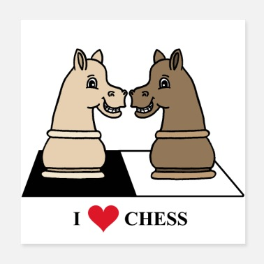 Chess pieces horse - Poster