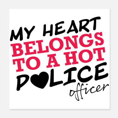 Policeman I love a POLICY proof of love gift - Poster
