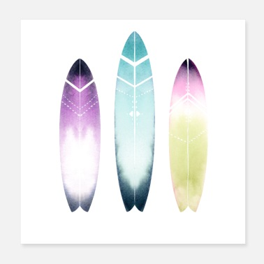 aztec surfboards - Poster