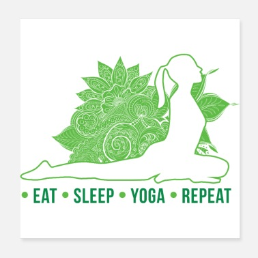 Daily EAT SLEEP YOGA REPEAT Daily routine Gift idea - Poster