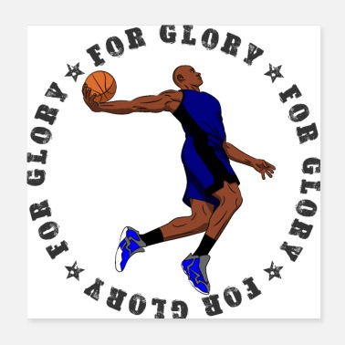 Bollsport FÖR GLORY MAN 005 Basketball Dunk - Poster
