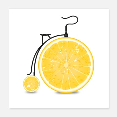Orange Fruits / fruits: vélo orange - orange - Poster