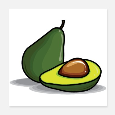 Lecker leckere Avocado - Poster