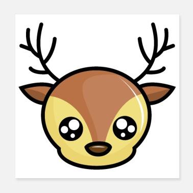 2d8029c32ae Reekalf Lief jong hert met heldere ogen - Poster