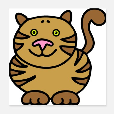 Chubby Cat lovers Love - Thick cat with stripes - Poster