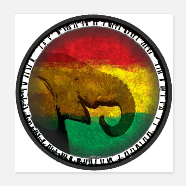 Movement Reggae elephant - Poster