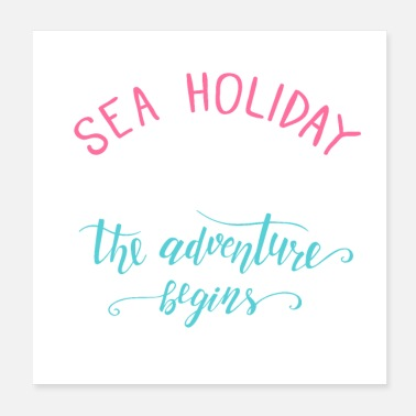 Cruise Cruise Sea Holiday Vacation Sea Gift - Poster