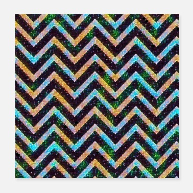 Decoration Decorative zigzag - Poster