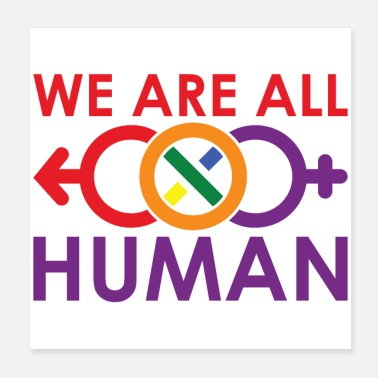 Miscellaneous We are all humans! LGBTQ - Poster