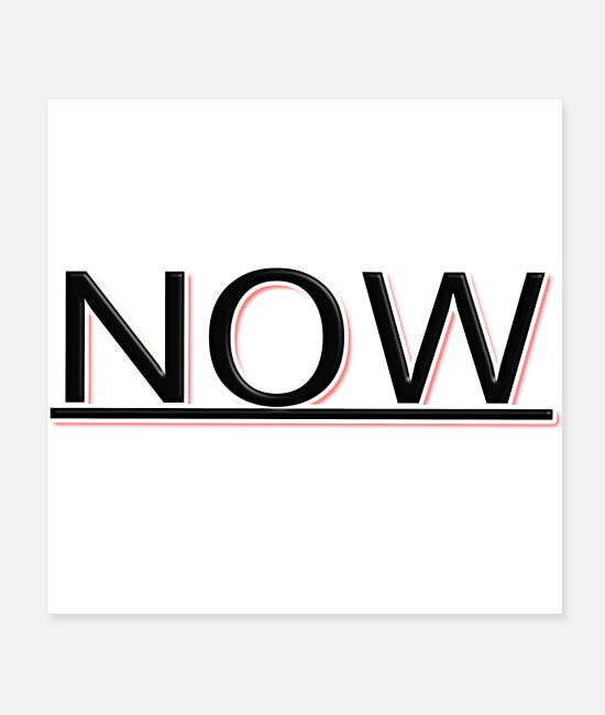 Obsession Posters - LIVE IN THE NOW - Posters white