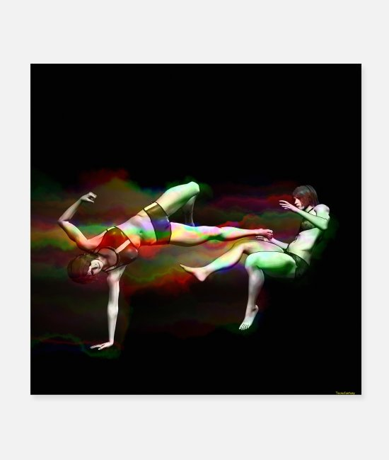 Martial Arts Posters - FEMALE MARTIAL ARTS B 3 - Posters white