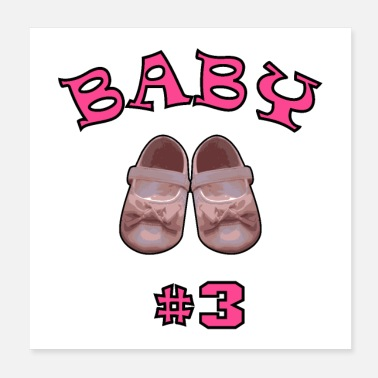 Baby Bump Baby shoes # 3 pink - Poster