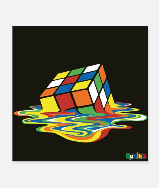 Hipster Posters - Rubik's Melting Cube - Posters white