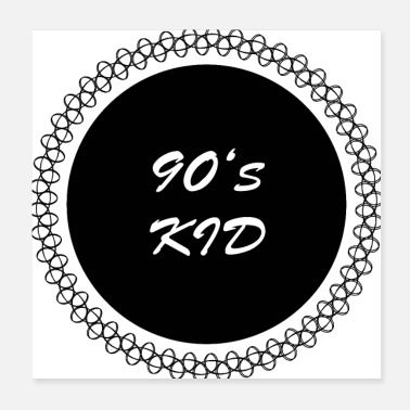 Necklace 90's kid black - Poster