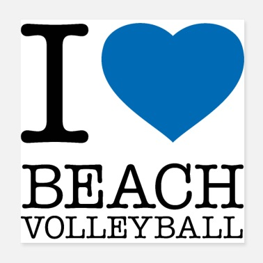 Beach I LOVE BEACH VOLLEYBALL - Poster