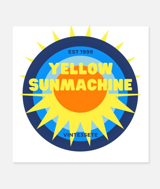 Boarder Posters - Machine Sun jaune - Posters blanc