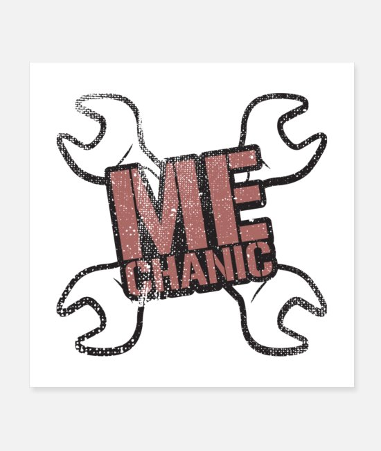 Mechanical Symbol Posters - Mechanic Gift - Posters white