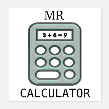 Clever Mr Calculator - Poster