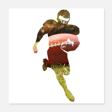 Football Player American Football American Football Player - Poster