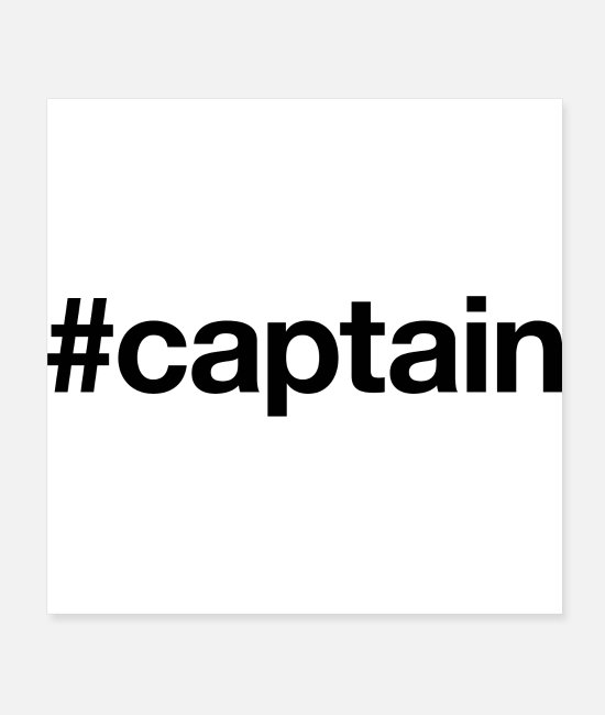 Water Posters - CAPTAIN - Posters white