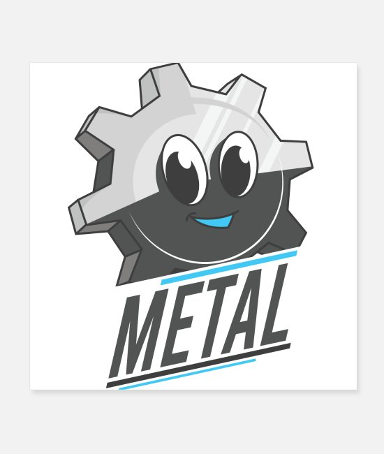 Metalhead Posters - Gear made of metal - Posters white