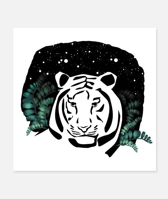 Travel Posters - Universe tiger - Posters white