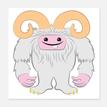 Tooth white yeti abominable snowman with tooth - Poster