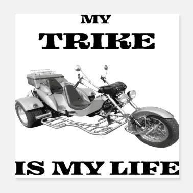 Racing Motorcycle Trike bike motorcycle chopper - Poster