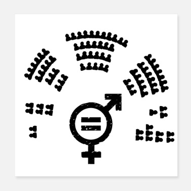 Politics Gender parity in politics - Poster