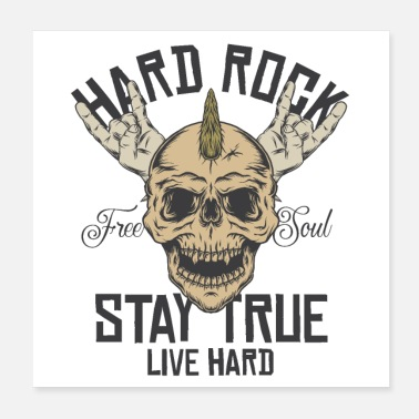 Heavy Hard Rock Stay True Heavy Metal Metal Rock Metal - Poster
