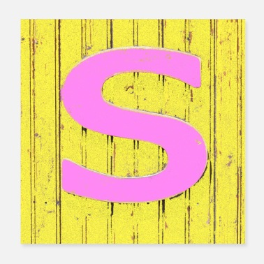 S S pink and yellow - Poster