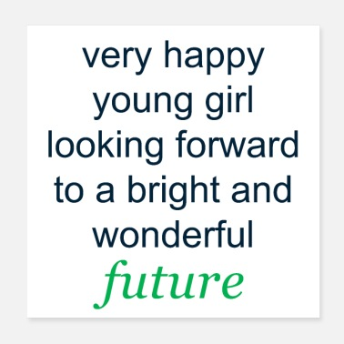 Satire Very happy young girl - Poster