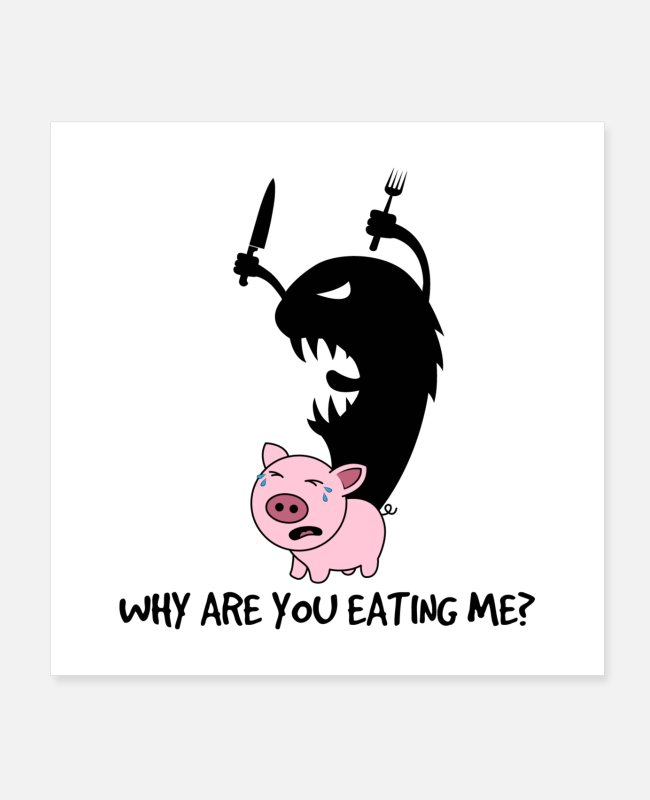 Movie Posters - Why Are You Eating Me - Posters white