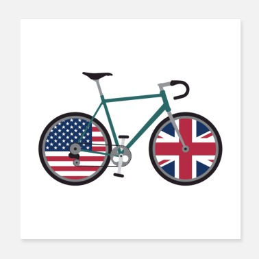 United Dual Citizen Cycling USA Royaume-Uni - Poster