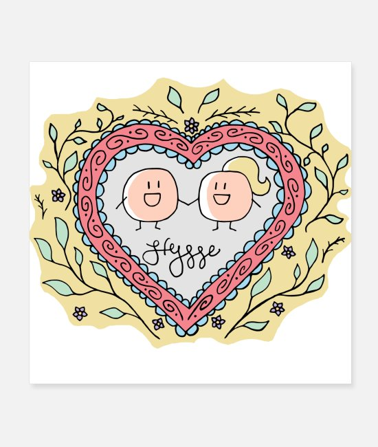 Pattern Posters - Hygge - Forever Love - Posters white