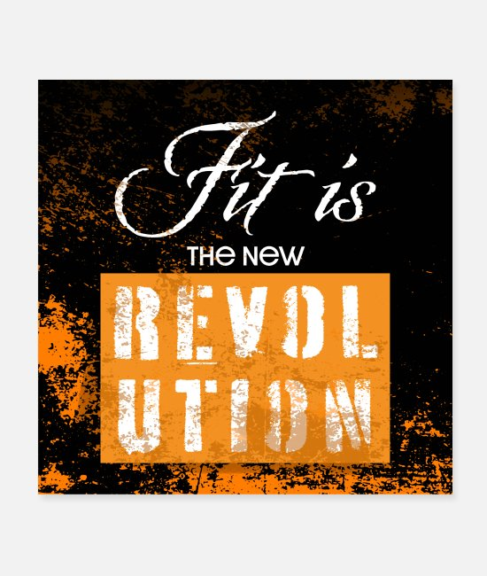 Training Posters - Fit is the new revolution - motivation poster - Posters white