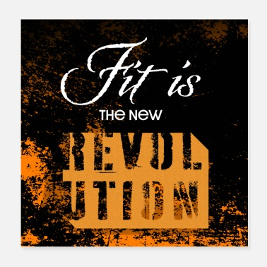 Wretch Fit is the new revolution - motivation poster - Poster