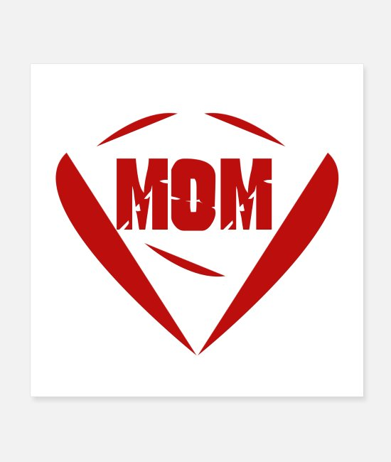 Pregnancy Posters - mother, mother heart - Posters white