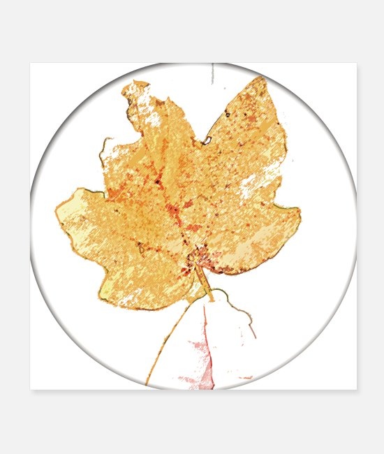 Nature Posters - Maple Leaf Autumn Leaf Drawing Abstract Orange - Posters white