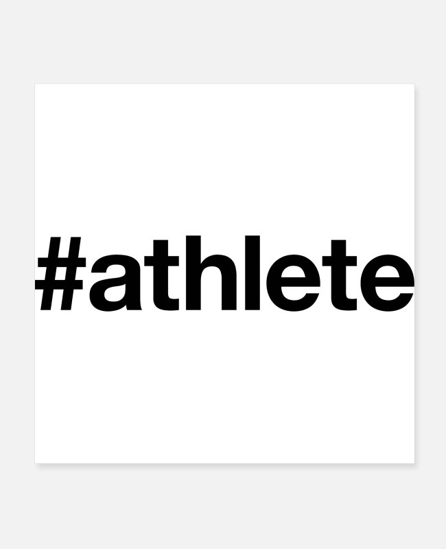 Training Posters - ATHLETE - Posters white