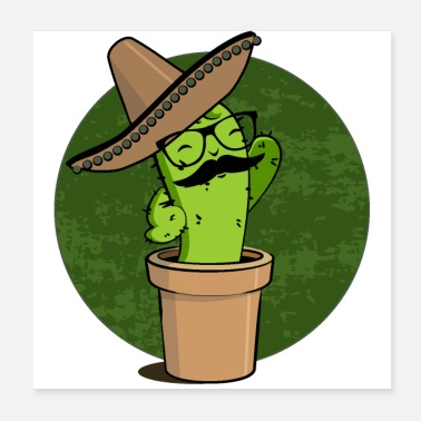 Cartoon Character Mexican Cactus / Mexican cactus (DDP) - Poster