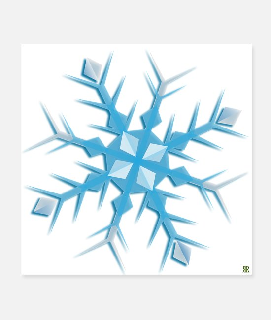 Christmas Posters - snowflake - Posters white