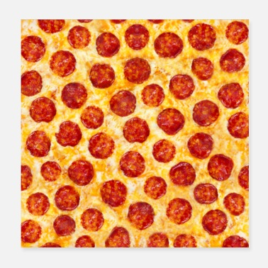 Frech Pepperoni Pizza Pattern - Poster