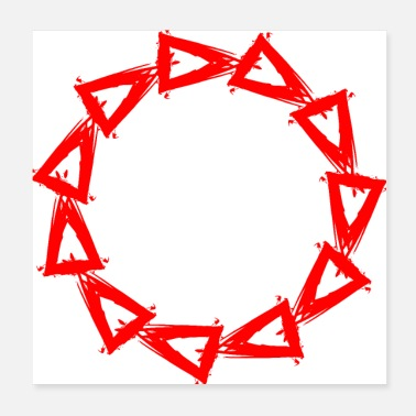 Circle design of triangles shape triangle - Poster