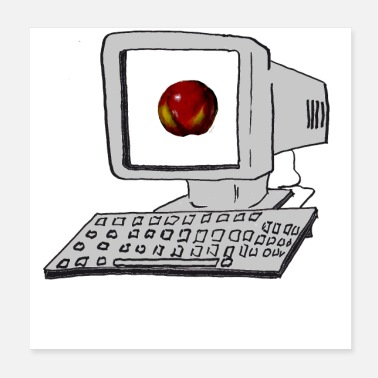 Html PC and a fresh apple in the 90s - Poster