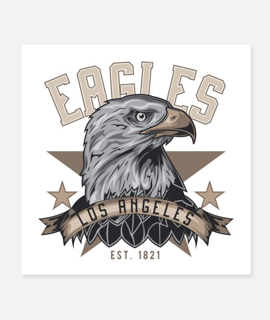 Proud Posters - beautiful eagle los angeles usa shirt - Posters white