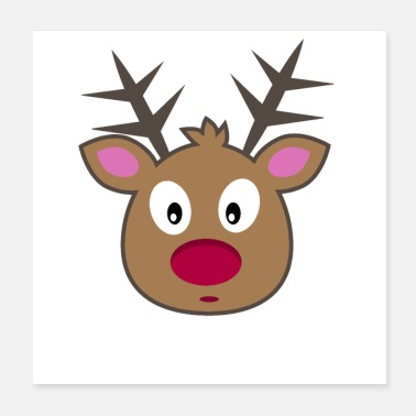 Advent Oh Deer Christmas Christmas ren Xmas - Poster