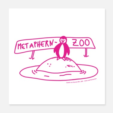 Zoo Metaphern-Zoo in pink - Poster